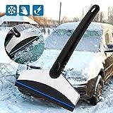 Mgrett Eiskratzer, Auto Eisschaber und Schneebesen, Rostfreier Stahl Schneeschaufel, Abnehmbar Eiskratzer für Auto Windschutzscheibe Und Fenster