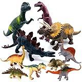 SYOSIN Dinosaurier Figuren Spielzeug Set,10 Pcs Dino Figuren Set Klein & Gross Geschenk für Kinder (15 to 30 cm)