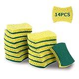 esafio 14 Stück Zellulose Schwamm Reinigungsschwamm PutzschwämmeBiologisch Abbaubarer Umweltfreundlicher Küchenreinigungsschwamm