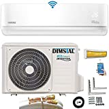 Quick-Connect INVERTER Split Klimaanlage mit Wärmepumpe Klimagerät ECO Smart WiFi/WLAN komplett Set inkl. 5m Kupferleitungen mit Heizfunktion