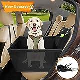 Wimypet Hunde Autositz für Kleine Mittlere Hunde, Robust Hundesitz Haustier Autoschondecke mit Hundesicherheitsgurt, Wasserdicht Faltbar Autositzbezug mit Aufbewahrungstasche Seite atmungsaktiv