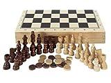Aquamarine Games–Schach, Dame und Backgammon im Koffer compudid CP1070