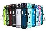 Super Sparrow Trinkflasche - Tritan Wasserflasche - 750ml - BPA-frei - Ideale Sportflasche - Schnelle Wasserdurchfluss, Flip Top, öffnet Sich mit 1-Click