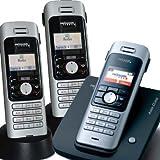 Swisscom Aton CL100 schnurloses analoges Telefon mit 3 Mobilteilen/ TRIO