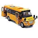 Beallar Pull-Back Schulbus-Legierung Diecast Spielzeug Fahrzeuge mit Lichter, Töne und offene Türen