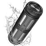 Bluetooth Lautsprecher, Bluetooth Box Tragbarer Musikbox 30h Spielzeit Bluetooth Speaker mit LED Licht, 20m Reichweite, IP67 Wasserschutz, 10W Dual-Treiber, Deep Bass, HD Mikrofon, Freisprechfunktion