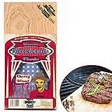 Axtschlag Grillbretter Kirsche, 3 Wood Planks zum schonenden Garen mit aromatischer Rauchnote und Servieren, für alle Grills, 300x150x11 mm, mehrfach verwendbar