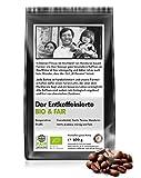 Coffee-Nation BIO & FAIR Der entkoffeinierte Kaffee 500g Bohne, perfekt für Vollautomaten, fair gehandelt und Bio-Qualität