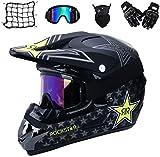 Motocross Helm,Motorrad Crosshelm für Mountainbike ATV BMX Downhill Offroad,Für Motorrad Crossbike Off Road Enduro Sport Jugend Motocross Helm Kinder Motorrad Fahrrad Helm (S)