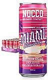 NOCCO BCAA Miami Erdbeere 24 x 330ml inkl. Pfand Proteinreiches Energy - Getränk ohne Zucker No Carbs Company Vitamin- und Koffein-Boost