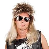 Boland 86060 - Perücke Ryan, Vokuhila, Blond-Schwarz, 80er Jahre, Assi Frisur, Proll, Rockstar, Trainingsanzug, Bad Taste Party, Accessoire, Motto Party, Karneval