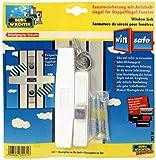 BURG WÄCHTER Fenstersicherung für Doppelflügel Fenster, weiß, 25x135mm - W2 W