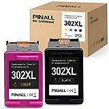 PINALL 2 Druckerpatronen Kompatibel HP 302XL für HP DeskJet 3639 3630 OfficeJet 3831 3830 3833 OfficeJet 5230 5232 4655 4650Envy 4525 4500 4520 Drucker