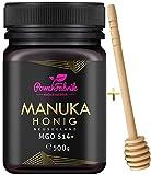 Manuka Honig   MGO 514+ (UMF 15+)   500g   Das ORIGINAL aus NEUSEELAND   HOCHAKTIV, PUR, ROH & ZERTIFIZIERT   Premium Qualität 100% natürlich   INKL. GRATIS HONIGLÖFFEL aus Holz   PowerFabrik