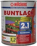 Wilckens 2in1 Buntlack glänzend, RAL 5010 enzianblau, 750 ml 10451000050