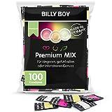 Billy Boy Premium MIX Kondome Großpackung, White Comfort, Länger Lieben und Perlgenoppt, Transparent, 100er Premium Pack