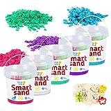 GenioKids Smart Sand 5 Farben/750g Spielset Kinetischer Sand