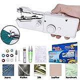 Kacsoo Handnähmaschine Mini Handschnurlose tragbare Nähmaschine Schnellreparatur Geeignet für Stoffbekleidung Kindertuch Heimreisen Verwenden Sie DIY (18)