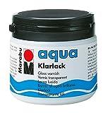 Marabu 11350075000 - Farbloser aqua Klarlack, transparent - hochglänzender Acryl - Lack auf Wasserbasis, für Hobby und Freizeit, zum Lackieren vieler Bastelarbeiten und Materialien, 500 ml Dose