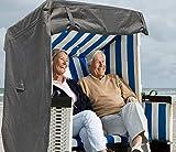 North Finest Premium Strandkorbhülle aus 600D Oxford   wasserdichte Strandkorb Schutzhülle   Atmungsaktiv   Winterfeste   Wetterfeste   Robuste Strandkorbabdeckung in Grau Anthrazit