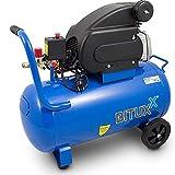 BITUXX® Kompressor 50L Druckluftkompressor 50L Druckluftverdichter 50Liter 2PS Druck bis 8 Bar
