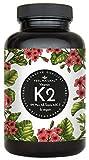 Vitamin K2 MK7-365 Kapseln. Hochdosiert mit 200µg (mcg) je Kapsel. 99,7+% All-Trans. Laborgeprüft, ohne Zusätze wie Magnesiumstearat. Vegan, hergestellt in Deutschland