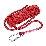 VGEBY Herren Diameter 12 mm Outdoor Survival Rope, Red, 10m