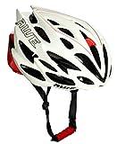 AWE AWESpeed In-Mould Helm Erwachsene Männer Straßen-Radsport 55-58cm Weiß/rot