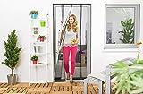 empasa Wirksamer Insektenschutz: Lamellenvorhang aus Filatec-Gewebe 100 x 220 cm, Fliegengitter mit 4 Lamellen in weiß oder schwarz, einfach und schnell zu montieren
