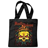 Tasche Umhängetasche Dark Poison Skull BIKERSHIRT Gothic Bike Club MC Motorcycle Chopper Custom Motorrad MOTORRADTREFFEN Club TREFFEN Einkaufstasche Schulbeutel Turnbeutel in Schwarz