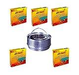 Hs24store 50 Insektenspiralen Anti Mücken Spirale und Metalltopf Metallhalter Silber