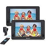NAVISKAUTO 10,1 Zoll Auto DVD Player 2 Monitore Tragbarer DVD Player mit zusätzlichem Bildschirm 5 Stunden Akku Kopfstütze Monitor Fernseher Dual Bildschirm1014