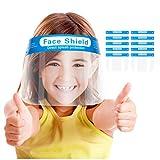Schutzvisier für Kinder, Cartoon Schutzmaske für Kinder, Klare Sicht mit Gummiband, Transparenter, Verstellbarer und Leichter Gesichtsschutz, Gesichtsschild für Jungen und Mädchen (10stck.)