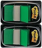 Post-it 680-GN2 Haftstreifen Index Standard, 2 x 50 Haftstreifen im Spender, 25,4 x 43,2 mm, grün
