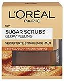 L'Oréal Paris Sugar Scrubs Glow Gesichtspeeling, mit Zucker und Traubenkern-Öl, für eine glatte und strahlende Haut, 50 ml