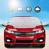 MYSBIKER Windschutzscheibe Abdeckung Frontscheibenabdeckung Auto Winterabdeckung Frostschutz (XL)