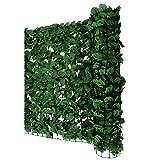 Mendler Sichtschutz Windschutz Verkleidung für Balkon Terrasse Zaun ~ Blatt dunkel 300 x 150 cm