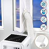 Becoyou 500CM Klimaanlage Fensterabdichtung, Fensterabdichtung für mobile Klimageräte, Klimaanlagen, Ablufttrockner, Wäschetrockner, Hot Air Stop zum Anbringen an Fenster, Dachfenster, Flügelfenster