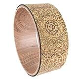 Yogawheel, Mandala Yoga Wheel Natürliches Korkmassagerad Rückenbeugung Pilates Yoga Circle Stärkster Komfort Für Yoga Pose Perfekte Schaumstoffrolle Zum Dehnen Erhöhen Der Flexibilität Verbessern