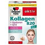 Doppelherz Kollagen 820 – Biotin trägt zum Erhalt normaler Haut bei – Mangan trägt zu einer normalen Bindegewebsbildung bei – 30 Kapseln