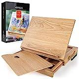 Arteza Tischstaffelei, Buchenholz-Staffelei mit Schublade und Palette, robuste tragbare Holzstaffelei, zum Skizzieren, Zeichnen und Malen mit einer Vielzahl von Medien