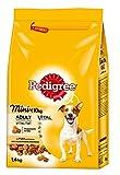 Pedigree Hundefutter Trockenfutter Adult Mini für kleine Hunde, 10kg mit Huhn und Gemüse, 6 Beutel (6 x 1,4kg)