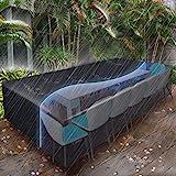ESSORT Gartenmöbel Abdeckung , Abdeckplane Schutzhülle Abdeckhaube Regenschutz für Gartenmöbel Gartentische Rechteckige Sitzgarnituren terrassenmöbel Möbelsets Wasserdicht (315x160x74cm)