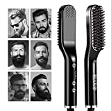 Bartglätter bürste für Männer, Ionen Bartglätter für Männer, Bart Stylingkamm und Haarglätter, Schnell Erhitzter Kamm, Fünf Temperaturmodi, mit um 360 ° Drehbarer Schnur