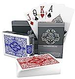 Bullets Playing Cards - 2X wasserfeste Designer Profi Plastik Pokerkarten mit Zwei Eckzeichen - Deluxe Kartenspiele mit Jumbo Index - Profi Premium Spielkarten für Texas Holdem Poker