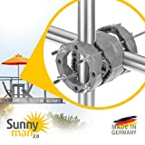 4smile Sonnenschirmhalter Balkongeländer – Sunnyman 2.0, der Alleskönner – Platzsparender und universeller Balkon Schirmhalter für alle Geländer und Sonnenschirme – Made in Germany