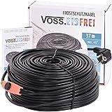 37m Frostschutz Heizkabel mit Knopf-Thermostat VOSS.eisfrei, 230V, Heizleitung Zum Schutz von Wasserleitungen und Weidetränken