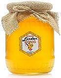 ROHER HONIG direkt vom Imker | 1,1 KG | LINDEN Honig | Roh, natürlich, sehr gesund, ohne Zusätze. Ungefiltert, nicht geschleudert oder erhitzt.