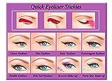 Quick Eyeliner Stickies Make-up COMPLETE SET, 80 Stück DE3, 50 g