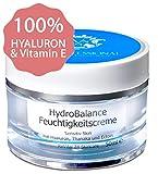 100% natürliche HYALURON Anti-Aging Creme 50ml | HOCHMOLEKULAR & OHNE Alkohol | Hyaluronsäure hochdosiert gegen Falten | Tages- und Nachtcreme Gesicht